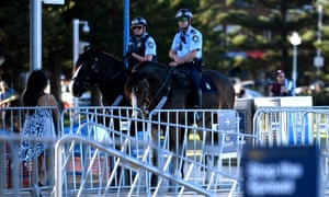 mounted police on patrol
