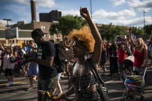 People march the streets in Minneapolis