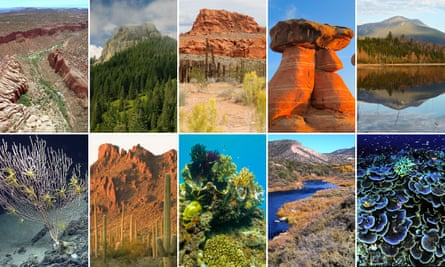 Threatened US monuments, including Bears Ears National Monument, Cascade-Siskiyou National Monument and Gold Butte National Monument.