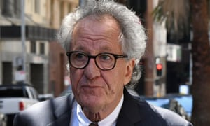 Australian actor Geoffrey Rush outside the federal court in Sydney last November.