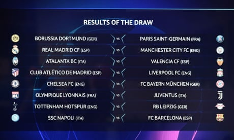 champions league last 16 draw and europa league last 32 draw as it happened football the guardian champions league last 16 draw and