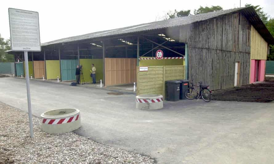 The covered stalls of Cologne's 'sex drive-through'.