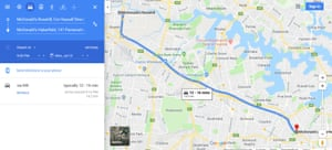 Google Maps correctly displaying the new tunnel.