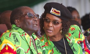 Robert and Grace Mugabe in June