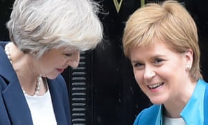 The prime minister, Theresa May, and Scotland's first minister, Nicola Sturgeon.