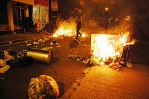 Rioting in London in August 2011.