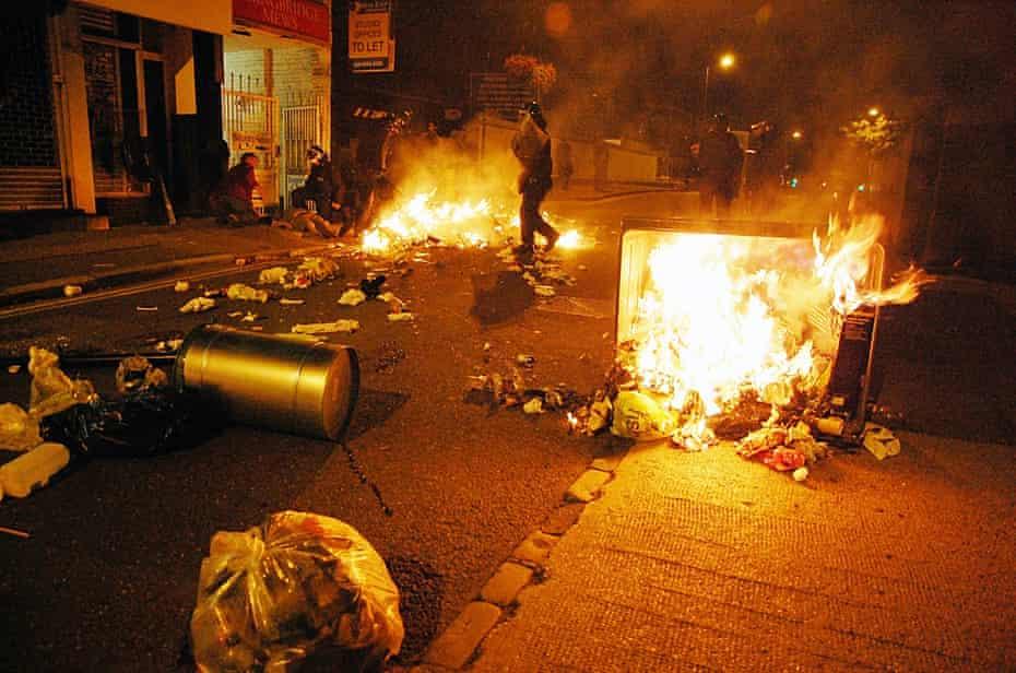 Rioting in London in August 2011.