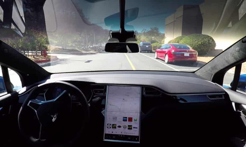 Self-driving Tesla Model X