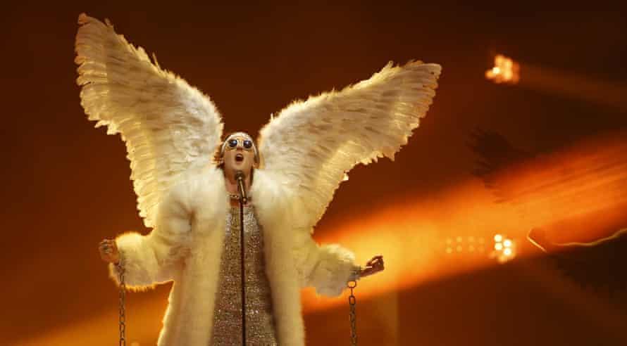 Norwegian entrant Tix performs Fallen Angel.
