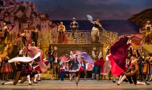 The company performs Don Quixote at London's Royal Opera House in July 2016.