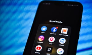 Phone with social media apps