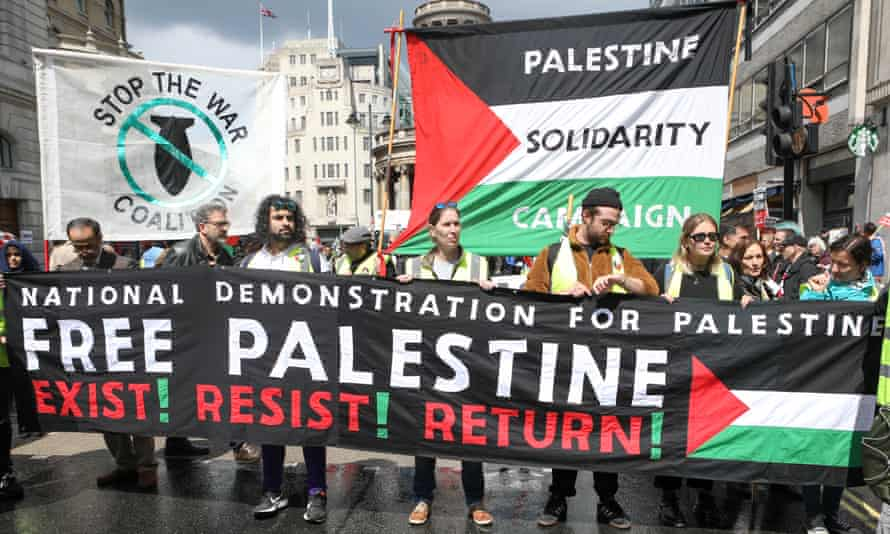 A demonstration on 11 May 2019 in London co-organised by the Palestine Solidarity Campaign