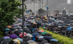 Protesters take the street of Hong Kong over an extradition law