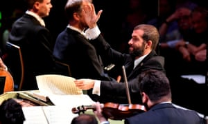 Palpable enthusiasm ... Omer Meir Wellber conducts the BBC Philharmonic Orchestra in Prom 14