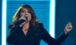 Singer Meghan Trainor performs during the 2016 Grammy Awards in Los Angeles
