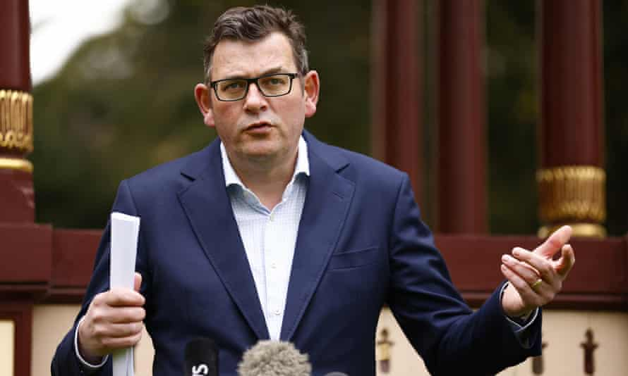 Victorian premier Daniel Andrews speaks to the media on Sunday, where he announced 100 pop-up vaccination hubs will be set up in Covid hotspots after the state reported 392 new cases.