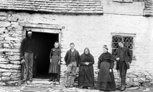 Photograph of the Jones Family at Cilewent Farmhouse.