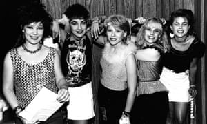'The time of my life' … (from left) Kathy Valentine, Jane Wiedlin, Gina Schock, Charlotte Caffey and Belinda Carlisle.