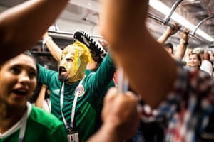 Fans travel to Mexico's opening match against Germany at the Luzhniki Stadium.