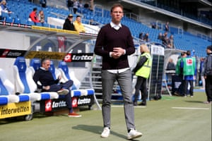 Julian Nagelsmann before the game against Hertha.