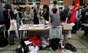 Students at Brighton University freshers' fair