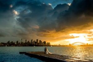 Sam Yeldham's photo of newlyweds in Sydney, Australia.