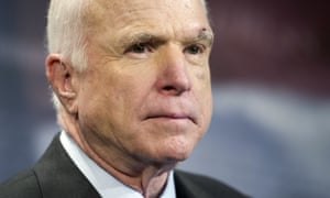 John McCain was a navy aviator during the Vietnam war and was shot down, wounded, tortured and held for five years. Donald Trump said: 'He's not a war hero … I like people who weren't captured.'