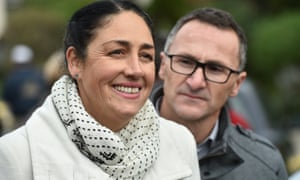 The Greens candidate for Batman, Alex Bhathal, and the Greens leader, Richard Di Natale