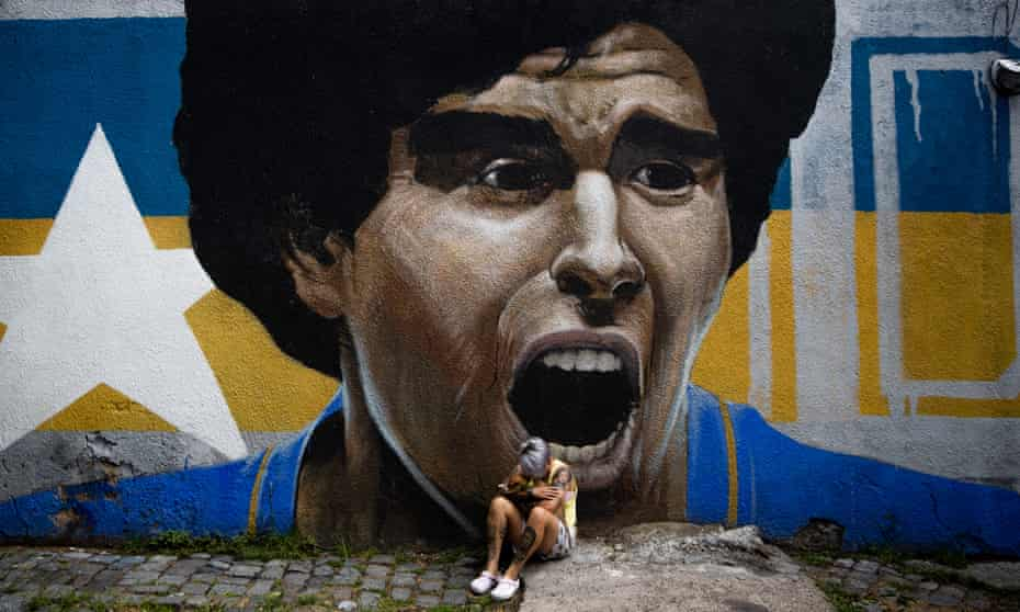 Maradona grew up in Buenos Aires and played for Boca Juniors.