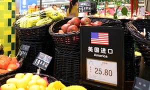 US fruit products at a supermarket in Beijing, China.