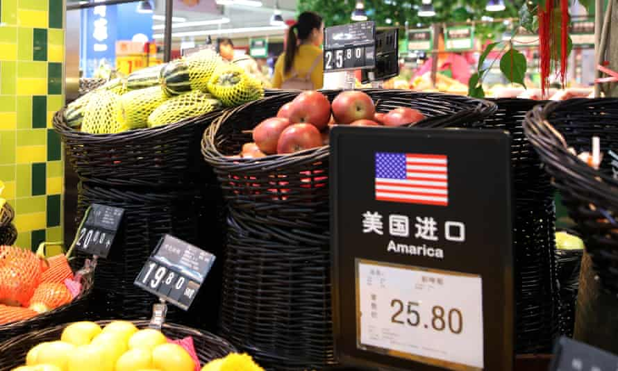 China has imposed up to 25% import duty on US food products.