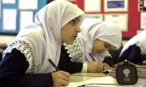 Pupils at the Al Hijrag school in Birmingham
