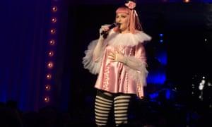 Madonna performs during Art Basel Miami Beach.