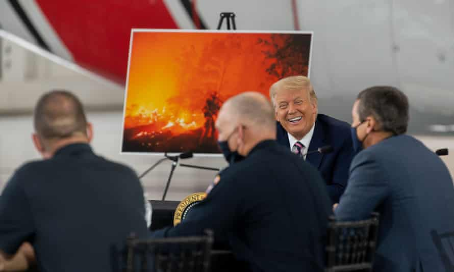 Trump meeting California governor, Gavin Newsom, and other officials to discuss the wildfires on Monday.