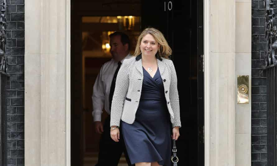 Karen Bradley leaves No 10 after being appointed as culture secretary.