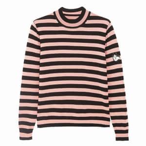 dark brown and pink striped jumper long sleeves Shrimps