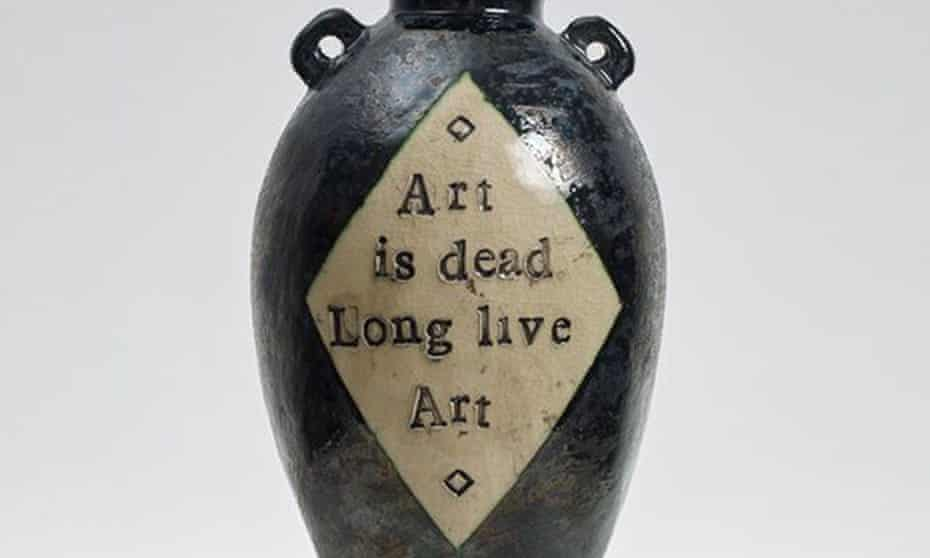 Detail from Grayson Perry's urn created for the Glasgow School of Art fund