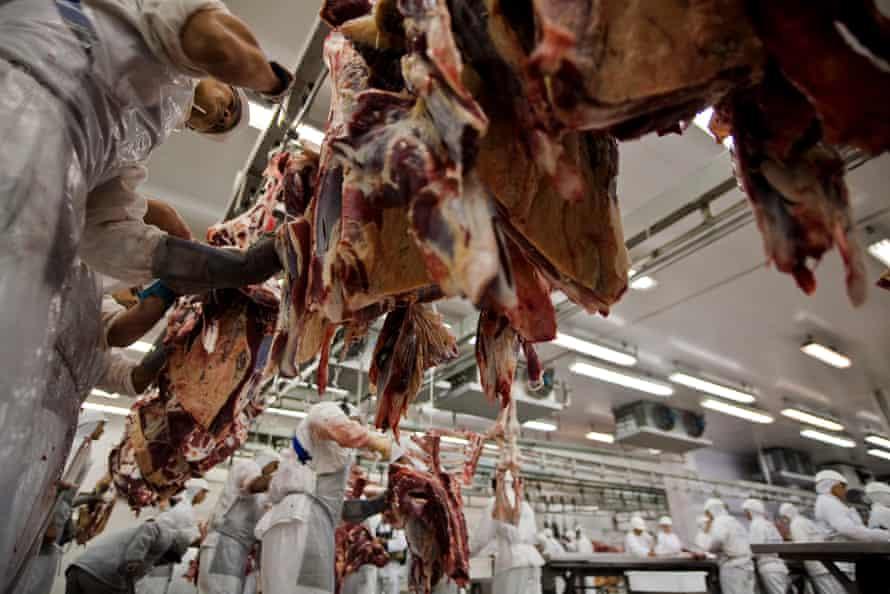 Slaughterhouse, Tangara da Serra, Mato Grosso state, Brazil.