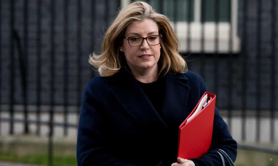 Penny Mordaunt leaving Downing Street.