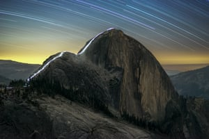 PEOPLE & SPACE: The Cable Route of Half Dome at Night © Kurt Lawson (USA) – RUNNER UP