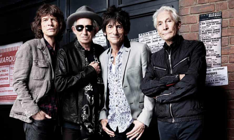 The Rolling Stones outside the Marquee Club, London, in 2012. From left: Mick Jagger, Keith Richards, Ronnie Wood and Charlie Watts.