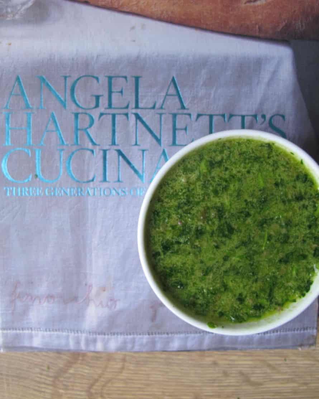 Angela Hartnett's salsa verde.