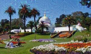 Golden Gate Park as seen through Google's DeepDream generator