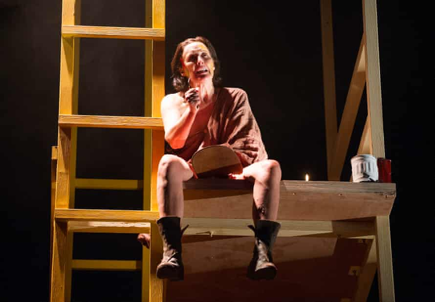 Fiona Shaw in Scenes from an Execution, Barker's only play to be staged at the National.