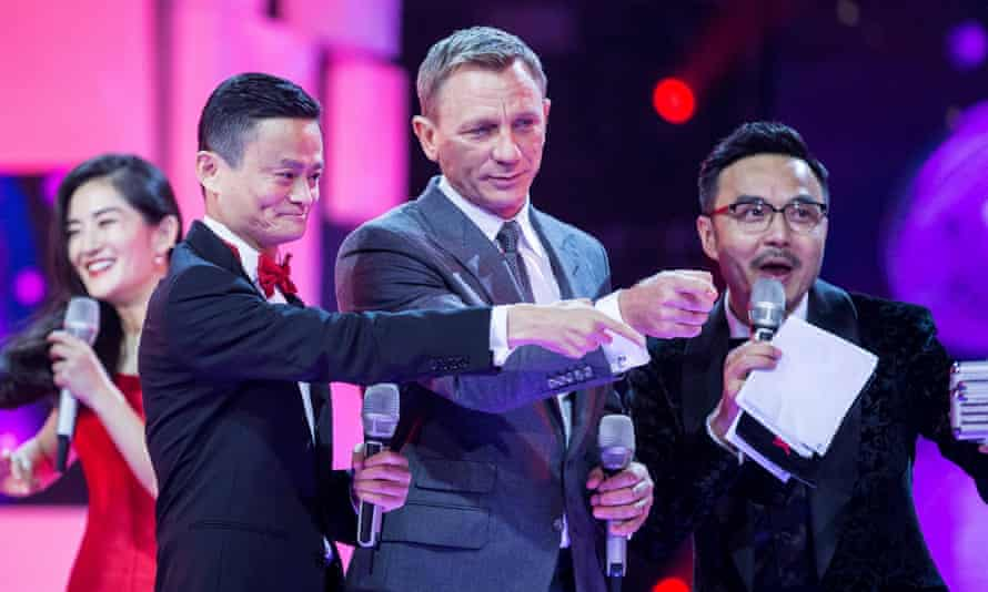 Bond star Daniel Craig joins the Alibaba founder and chairman Jack Ma, left, to help bring some razzmatazz to the company's Singles' Day marketing.