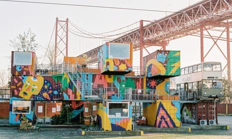 Village Underground – part creative community, part arts venue – occupies a dramatic site next to the city's suspension bridge.