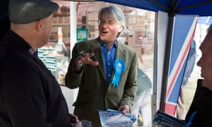 Andrew Mitchell MP canvassing in Boldmere, Sutton Coldfield, ahead of the elections.