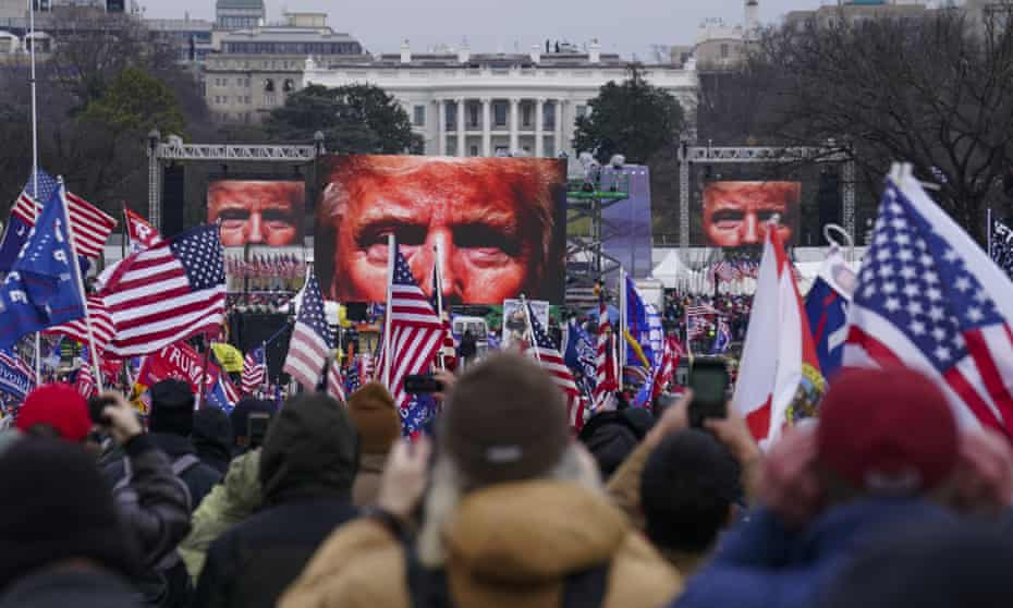 Donald Trump participate in a rally in Washington on 6 January.