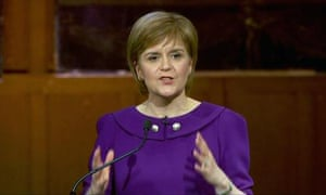 First minister Nicola Sturgeon during the Scottish leaders' debate on Wednesday night