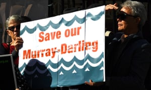 Protesters against the NSW state government's handling of water from the Murray-Darling Basin.